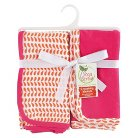 Yoga Sprout Interlock Receiving Blankets 2pk - Pink & Orange