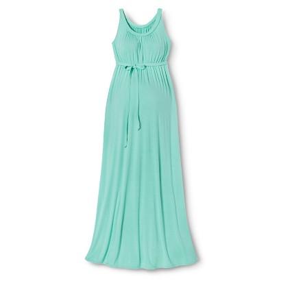 Maternity Sleeveless Braided Maxi Dress Sunglow Green-Liz Lange® for Target®