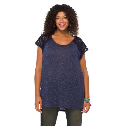 Plus Size Short Sleeve Fashion Top-Xhilaration