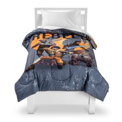 Stars Wars Rebel Comforter - Twin (Grey)