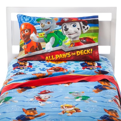 Paw Patrol All Paws on Deck! Sheet Set - Blue (Twin)