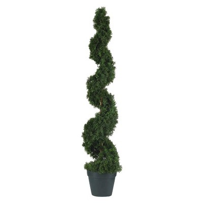Nearly Natural 4' Cedar Spiral Silk Tree