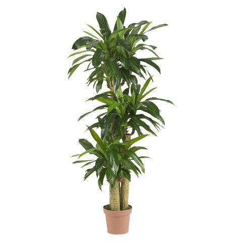 Nearly Natural Corn Stalk Dracaena Silk Plant (Real Touch)
