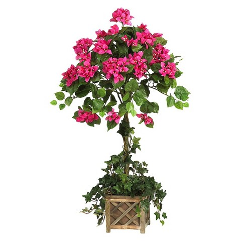"""Nearly Natural Silk Bougainvillea Plant - Pink (34"""")"""