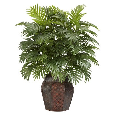 Nearly Natural Areca Palm w/Vase Silk Plant