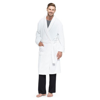 Hanes® Men's Cozy Robe, White