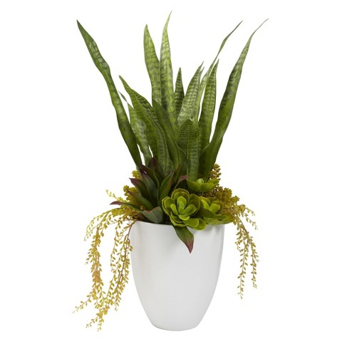 """Nearly Natural Artificial Mixed Succulent Plant (30"""")"""