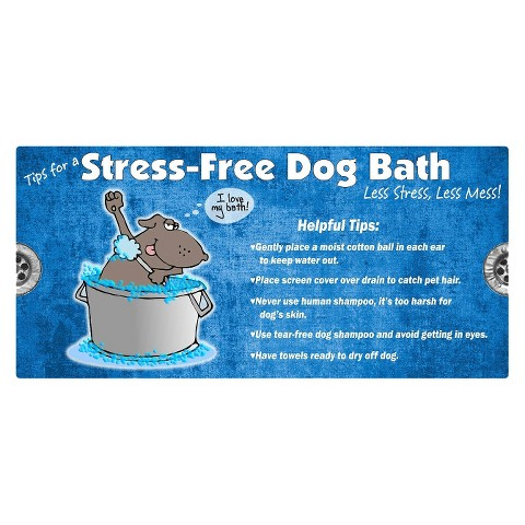 Drymate® Bath Mat for Dogs - Blue (Large)