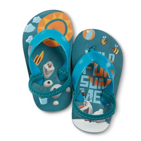 Disney® Frozen Toddler Boys' Flip Flop Sandals - Blue