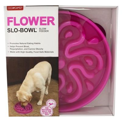 Dog Games Slow Feeder Pet Bowl - Flower