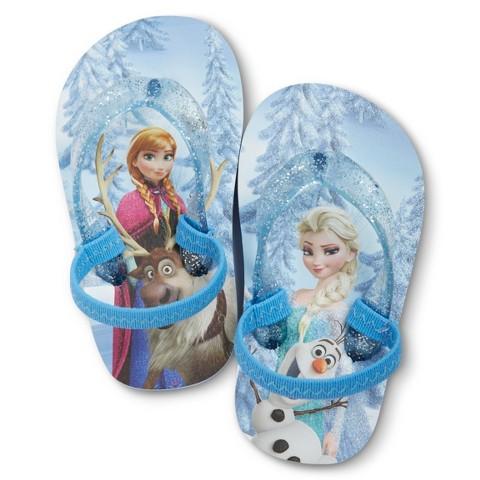Disney® Frozen Toddler Girl's Flip Flop Sandals - Blue