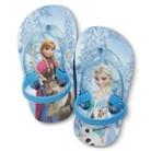 Toddler Girl's Disney Frozen Flip Flop Sandals - Blue
