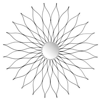 Safavieh Decorative Marigold Mirror - Black