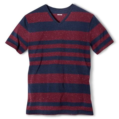 Mossimo Supply Co. Men's Striped V-Neck T-Shirt