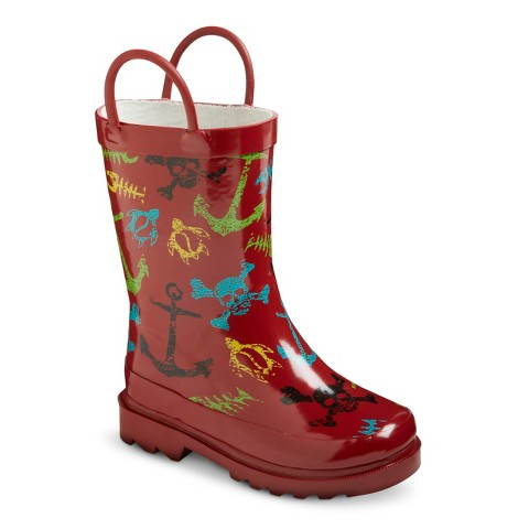 Toddler Boy's Surf Tide Rain Boots - Red