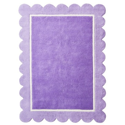 Circo Scalloped Area Rug - Purple (7'x10')