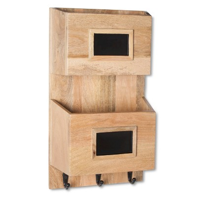 Smith & Hawken™ Wood Wall Organizer with Chalkboards
