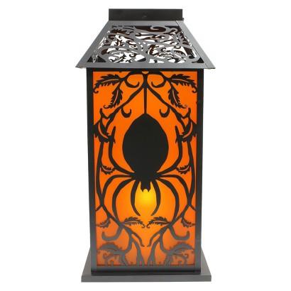 "18"" LED Spider Light-Up Lantern Halloween Decor"