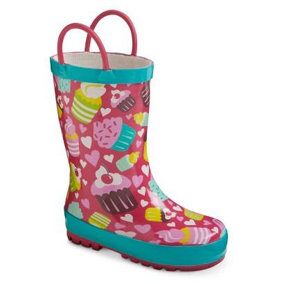 Toddler Girl's Rain Boots - Cupcakes