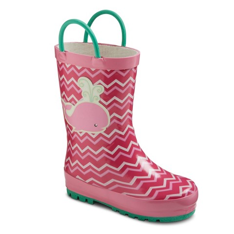 Toddler Girl's Whale Rain Boot - Pink