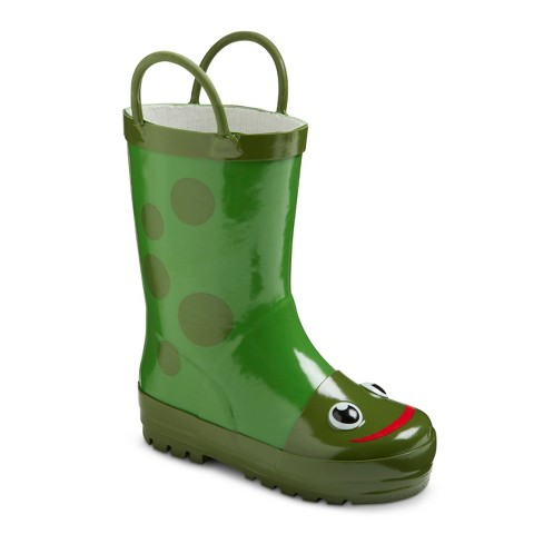 Toddler Kid's Frog Rain Boots - Green