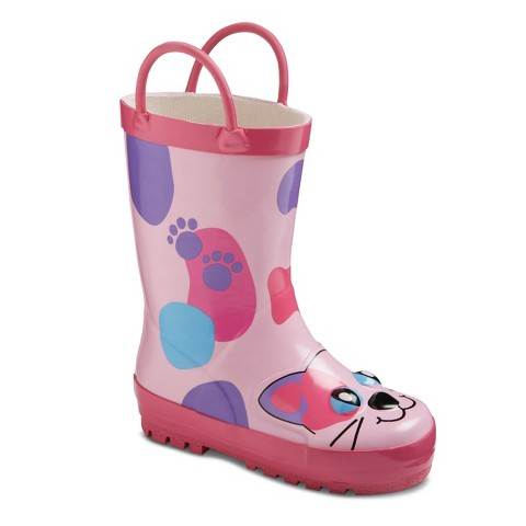 Toddler Girl's Western Chief Calico Kitty Rain Boots - Pink