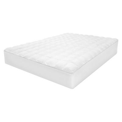 SensorLOFT Luxury Top Loft Gel Fiber Mattress Pad - White (California King)