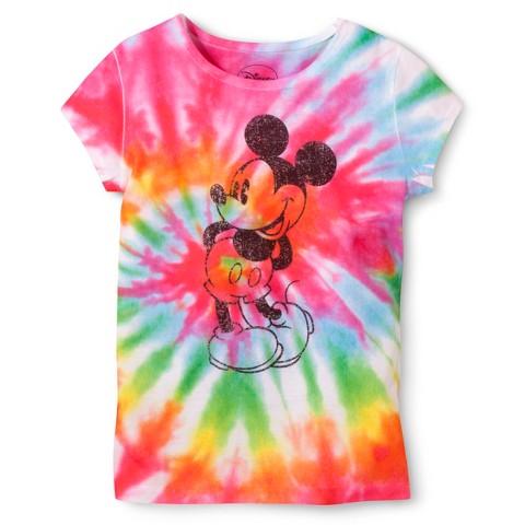 Disney® Mickey Mouse Girls' Tye Dye Tee