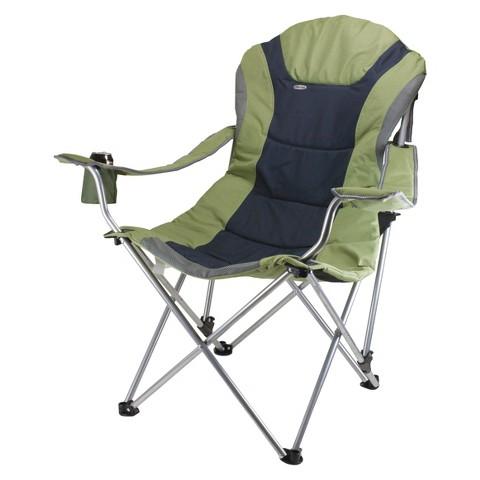 Picnic Time Reclining Camp Chair - Sage Green/ Dark Grey (12.5 Lb)