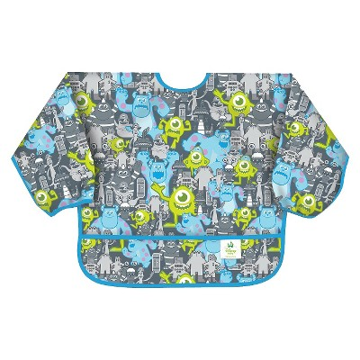 Bumkins Disney Baby Monsters, Inc Waterproof Sleeved Baby Bib - Gray