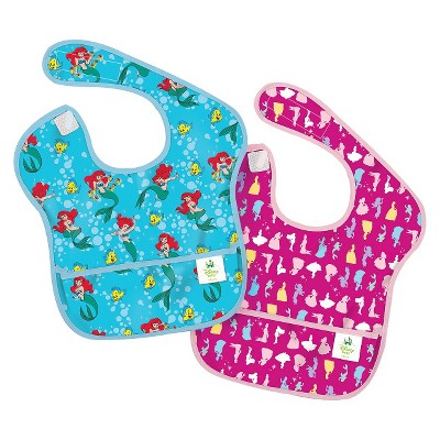 Bumkins Disney Baby Disney Princess 2ck Waterproof SuperBib® Baby Bib Set - Blue and Pink