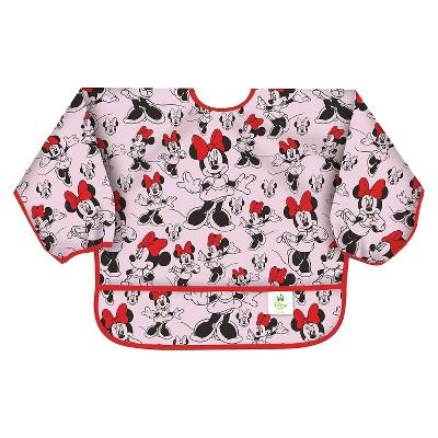 Bumkins Disney Baby Minnie Mouse Waterproof Sleeved Baby Bib - Pink