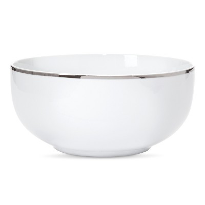 Threshold™ Porcelain Decal Serving Bowl - Silver Snowflake