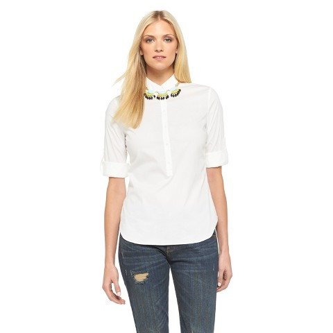 Button Up Shirt Fresh White - Mossimo