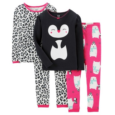 Just One You™ Made by Carter's Toddler Girls' 4-Piece Mix & Match Animal Friends Pajama Set -