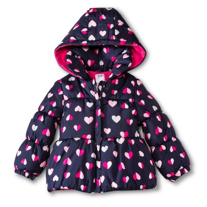 Just One You Made by Carter's® Infant Toddler Girls' Hearts Puffer Jacket