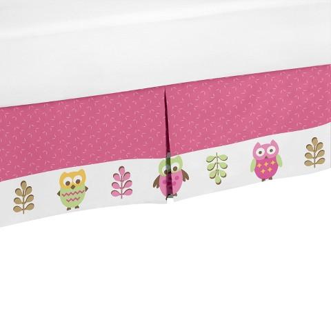 Sweet Jojo Designs Happy Owl Toddler Bed Skirt