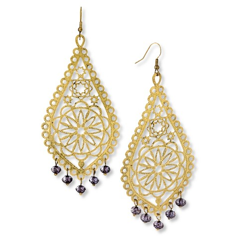s large scale filigree disc earrings with
