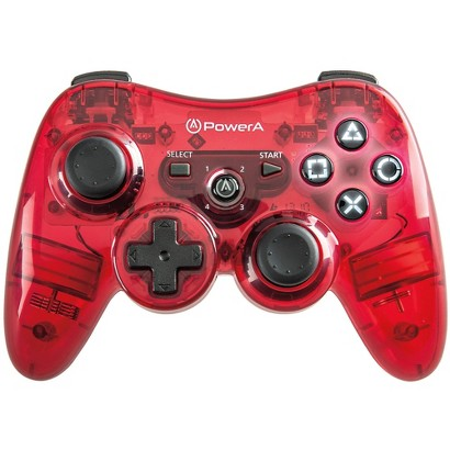 Power A Illuminated Wireless Controller - Red (PlayStation 3)