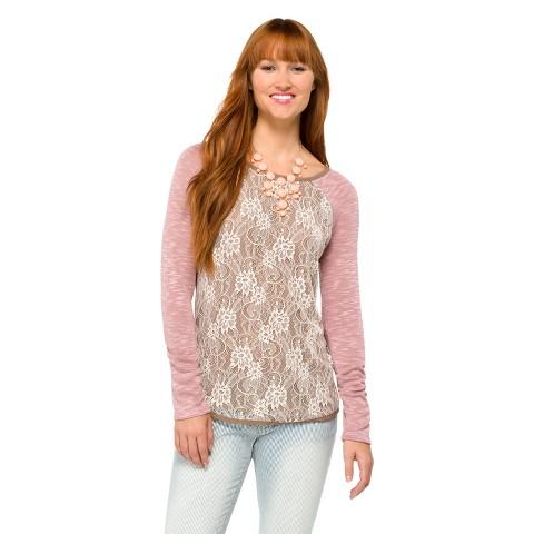 Women's Knit Lace Top