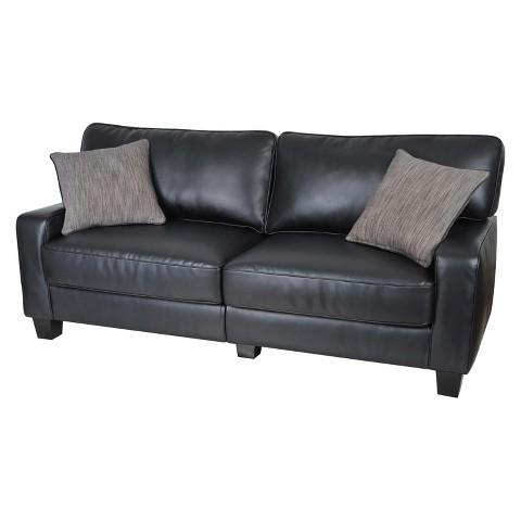 serta rta santa rosa collection 72 leather so target. Black Bedroom Furniture Sets. Home Design Ideas