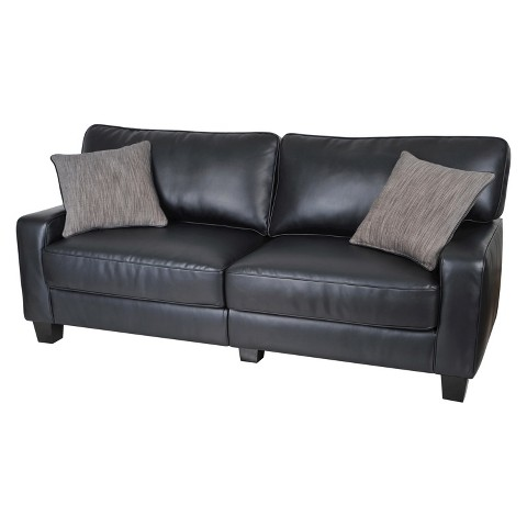 serta rta santa rosa collection sofa black le target. Black Bedroom Furniture Sets. Home Design Ideas