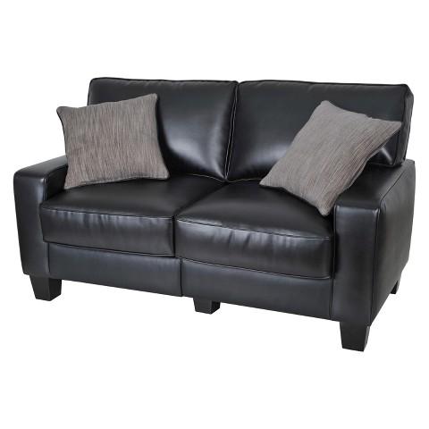santa rosa collection 61 leather loveseat sofa target. Black Bedroom Furniture Sets. Home Design Ideas