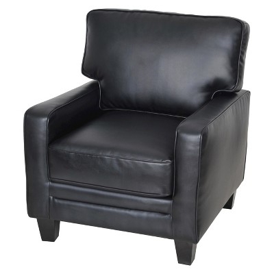 ECOM Serta Santa Rosa Leather Arm Chair - Black