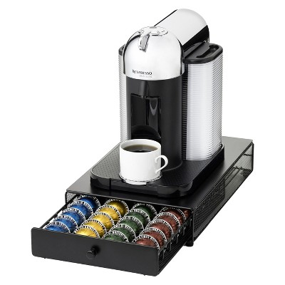 Nifty Under-the-Brewer Drawer for Nespresso VirtuoLine