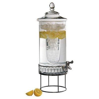 Artland Kingston Beverage Server with Antique Silver Stand - Silver (3 Gallon)