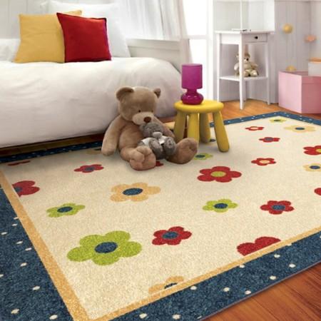 sweet daisies area rug teal 6 39 7 x9 39 8 target