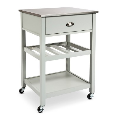 Stainless Steel top Kitchen Cart - Gray - Threshold™
