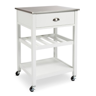 Stainless Steel top Kitchen Cart - White - Threshold™