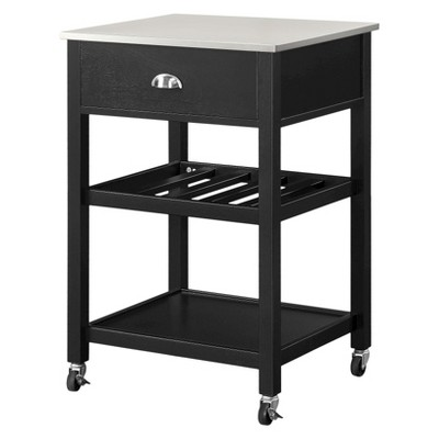 Stainless Steel Top Kitchen Cart - Black - Threshold™
